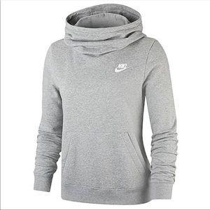 Nike Women's Fleece Funnel-Neck Hoodie